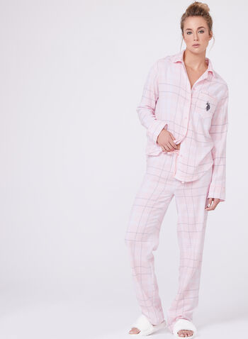 Flannel Pajama Set , , hi-res