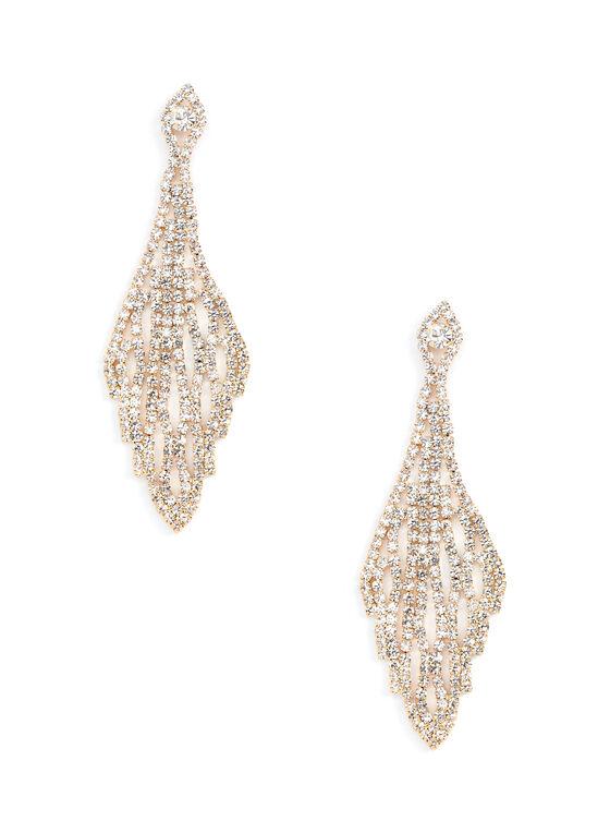 Crystal Web Chandelier Earrings, Silver, hi-res