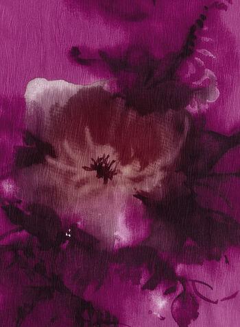 Blurred Floral Print Scarf, , hi-res