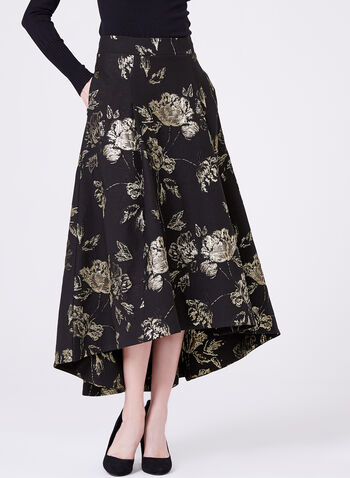 Fit & Flare High Low Skirt, , hi-res