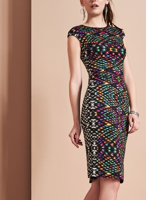 Maggy London Techno Print Scuba Dress, Multi, hi-res