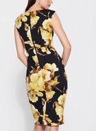 Floral Print Scuba Dress, Yellow, hi-res