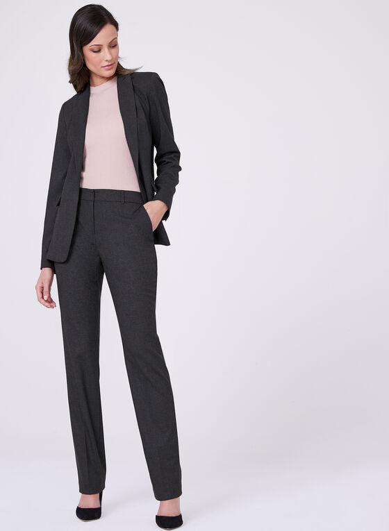 Louben - Straight Leg Pants, Grey, hi-res