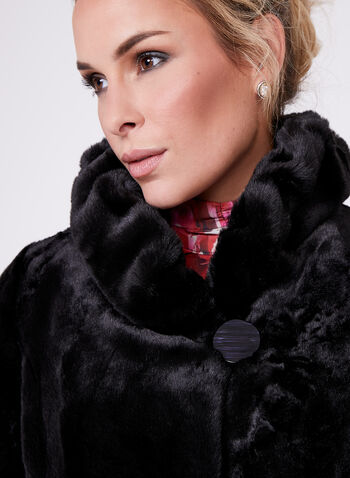 Nuage- Faux Fur Stand Collar Coat , , hi-res