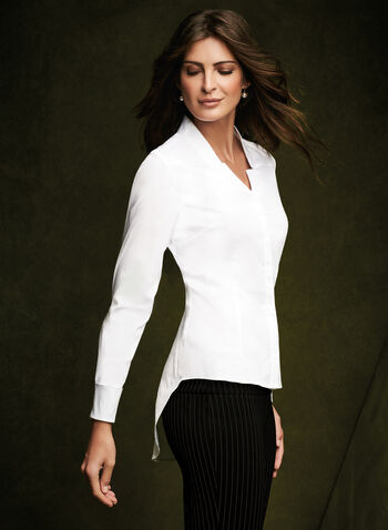 Long Sleeve Peplum Blouse, , hi-res