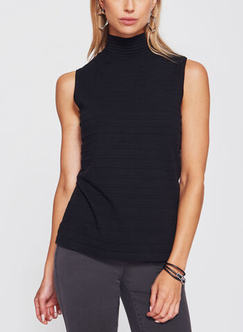Sleeveless Funnel Neck Sweater, , hi-res