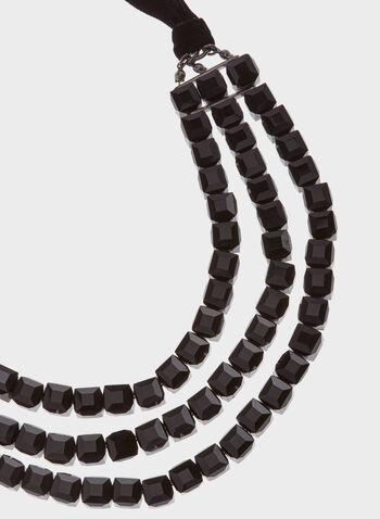 Stone & Velvet Necklace, , hi-res