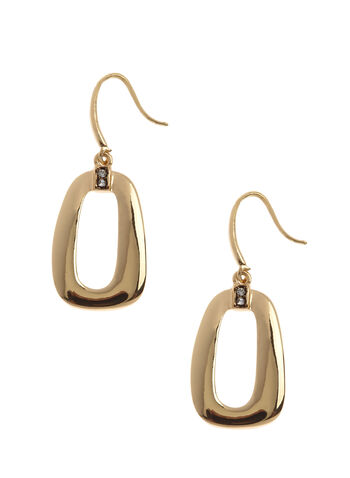 Open Geometric Dangle Earrings, , hi-res