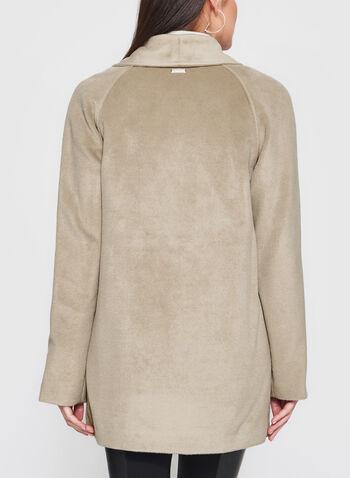 Novelti - Wool-Like Draped Lapel Coat, , hi-res