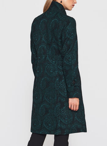 Stand Collar Tapestry Coat, , hi-res