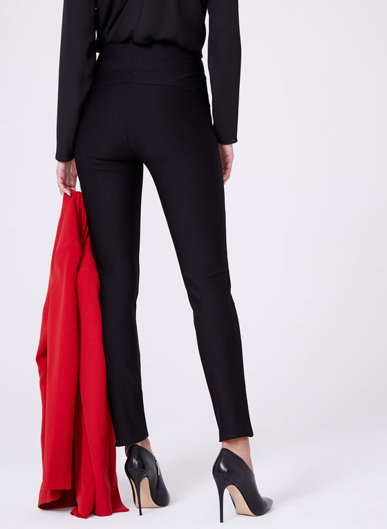 Frank Lyman - Crystal Embellished Pull-On Pants, Black, hi-res