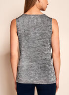 Sleeveless Heather Knit Top, Off White, hi-res