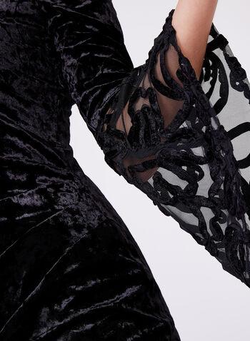 Cachet - Robe en panne de velours à épaules dénudées, , hi-res