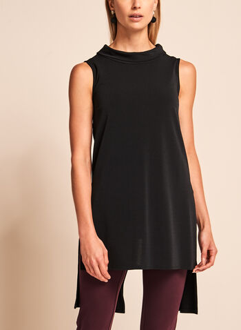 Cowl Neck High-Low Tunic, , hi-res