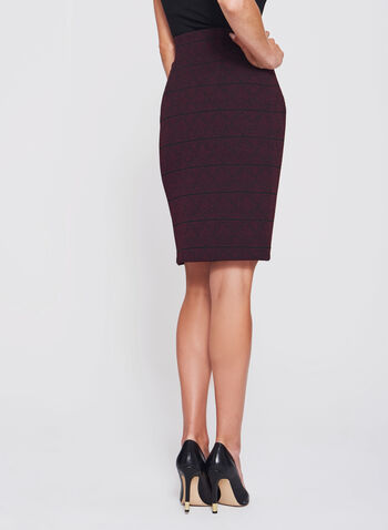 Ottoman Tweed Knit Pencil Skirt, , hi-res