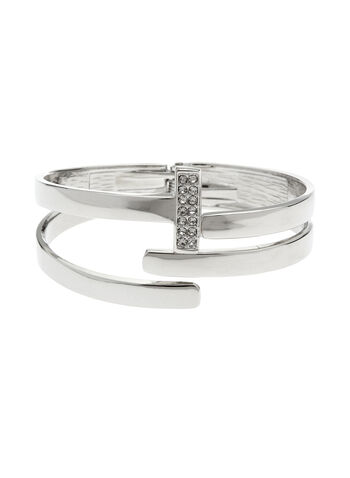 Crystal Cutout Hinge Bangle, , hi-res