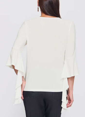 Ruffle Bell Sleeve Knit Top, , hi-res