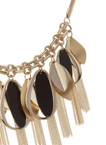 Collier à pendentifs géométriques et chaînettes, , hi-res