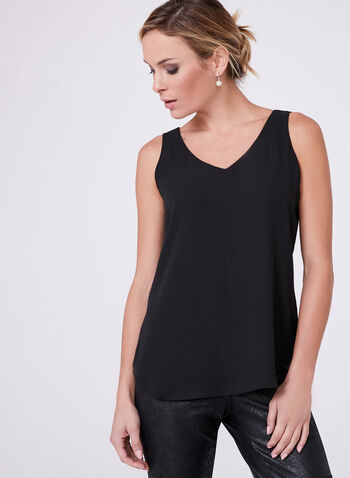 Sleeveless Layered Blouse, , hi-res