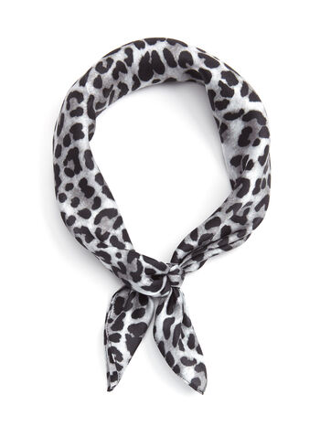 Leopard Print Silk Neckerchief, , hi-res