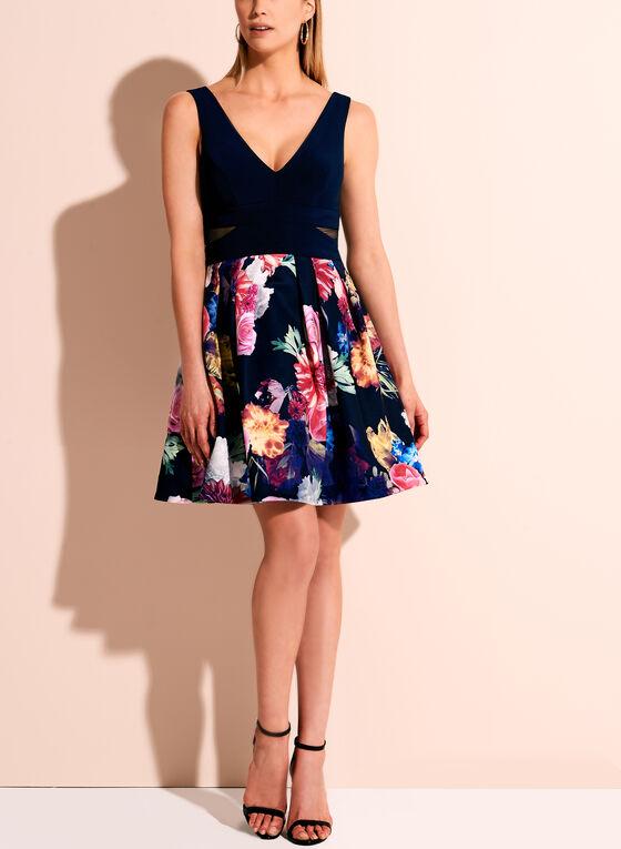 BA Nites Floral Print Dress, Multi, hi-res