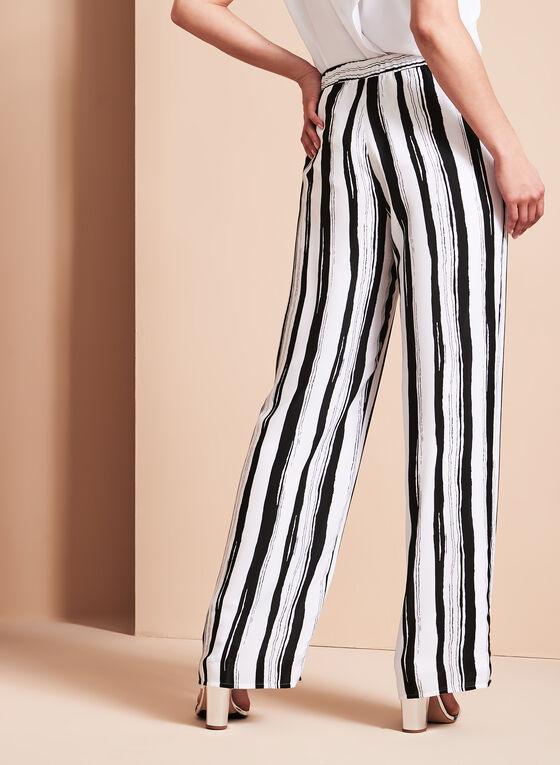 Conrad C - Stripe Print Wide Leg Pants, Black, hi-res