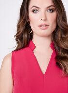 Chetta B - Structured V-Neck Dress , Red, hi-res