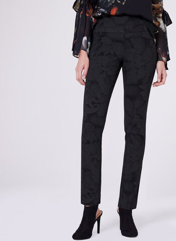 Slim Leg Pull-On Madison Pants, , hi-res