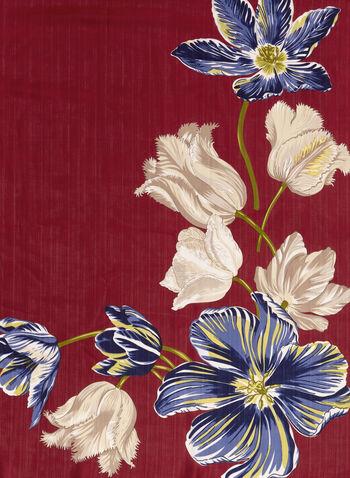Floral Print Oblong Scarf, , hi-res