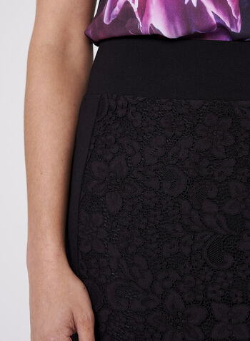 Lace Detail Pencil Skirt , , hi-res