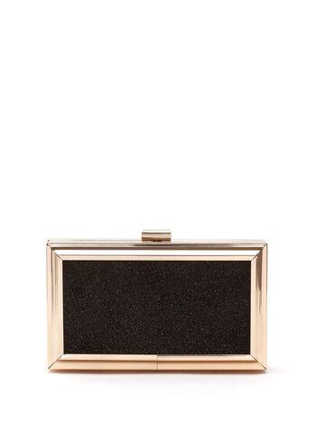 Metal Frame Box Clutch, , hi-res