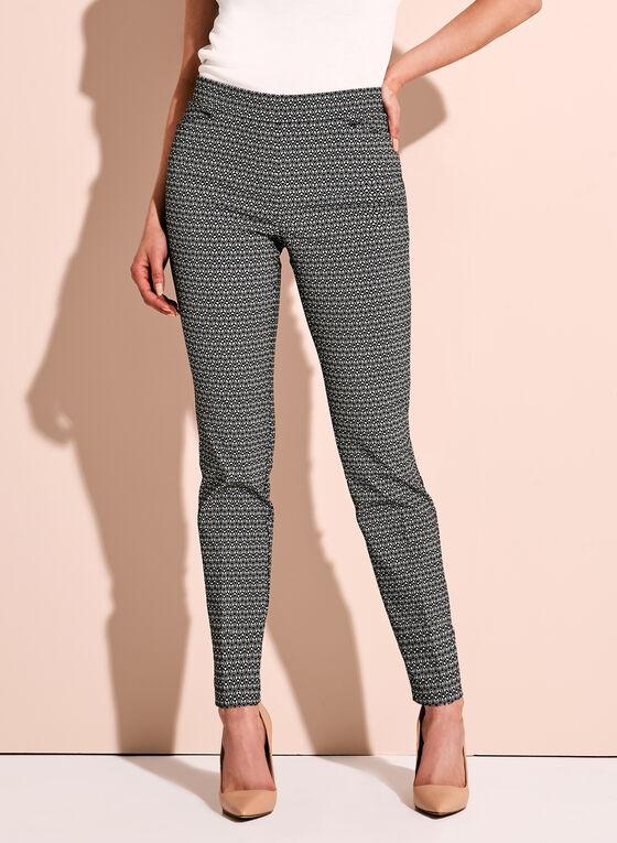 Ditsy Print Tummy Control 7/8 Pants, Black, hi-res