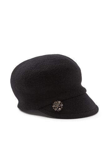 Crystal Embellished Newsboy Hat, , hi-res