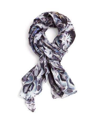 Abstract Print Square Scarf, , hi-res