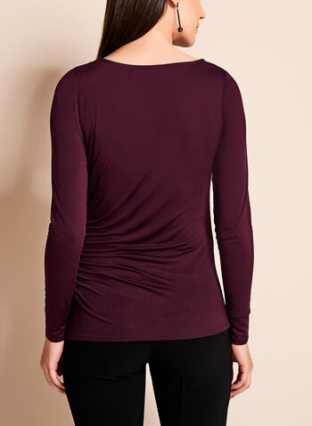 Long Sleeve Pintuck Top, , hi-res