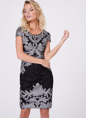 Frank Lyman - Embroidered Mesh Dress, , hi-res