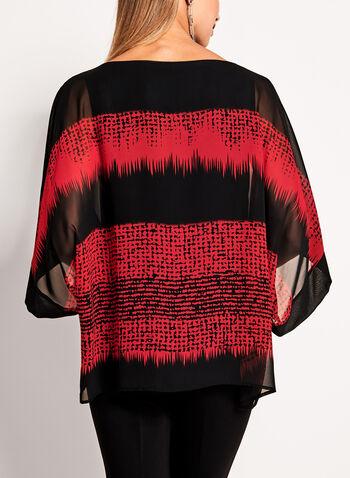 Geometric Print Kimono Blouse, , hi-res
