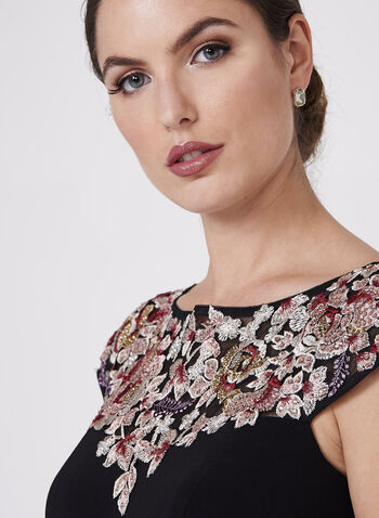 BA Nites - Floral Embroidered Jersey Dress, , hi-res