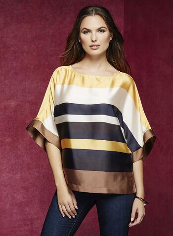 3/4 Sleeve Kimono Blouse, , hi-res