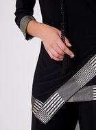 Frank Lyman - Metallic Trim Asymmetric Top, Black, hi-res