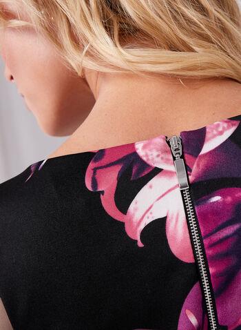 Robe fourreau au motif floral , , hi-res