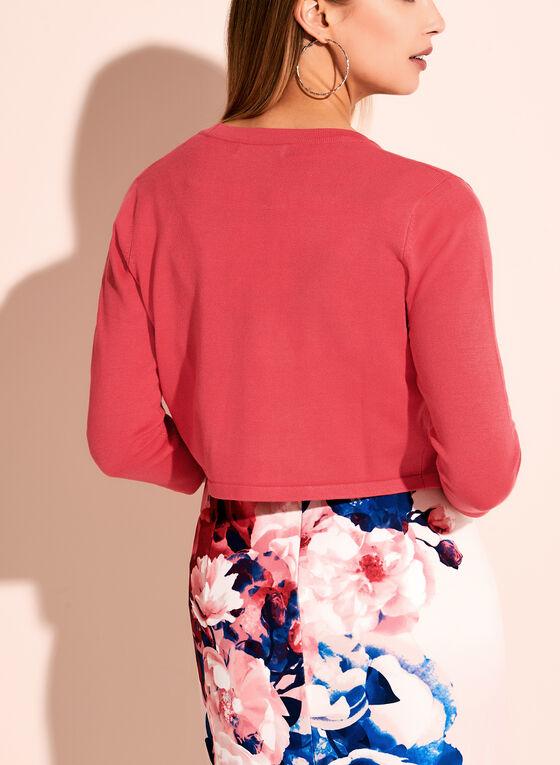 3/4 Sleeve Knit Bolero, Orange, hi-res