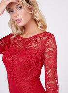 Jax - Illusion Lace Sheath Dress, Red, hi-res
