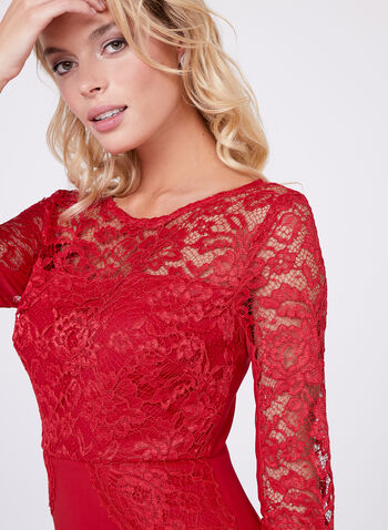Jax - Illusion Lace Sheath Dress, , hi-res