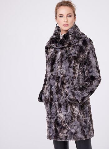 Faux Fur Reversible Coat, , hi-res