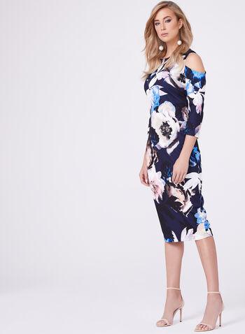 Jax - Floral Print Cold Shoulder Dress, , hi-res