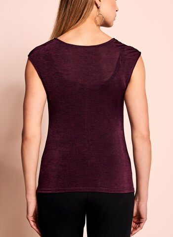 Sleeveless Heather Knit Top, , hi-res
