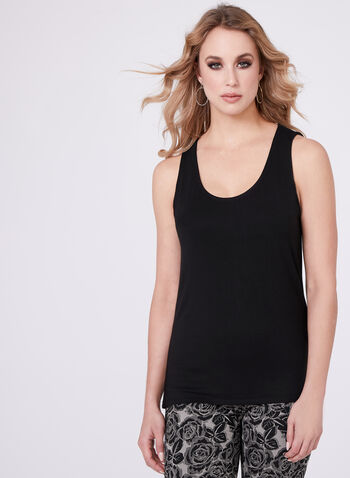Sleeveless Scoop Neck Cami, , hi-res