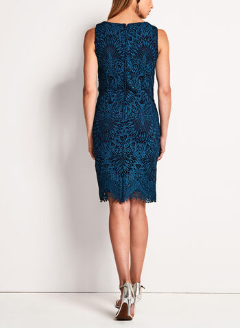 Scallop Lace Sheath Dress, , hi-res