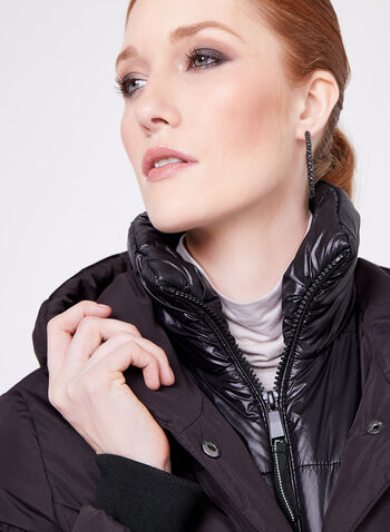 Novelti - Hooded Down Coat, , hi-res